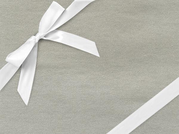 """Glimmering Pure Silver Gift Wrap 24"""" x 417', Half Ream Roll"""