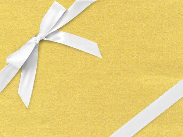 "Glimmering Pure Gold 26"" x 417' Half Ream Roll Gift Wrap"
