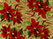 Red Poinsettias on Gold