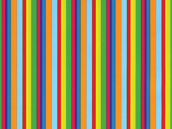 "Colorful Stripes  30"" x 833' Full Ream Roll Gift Wrap"