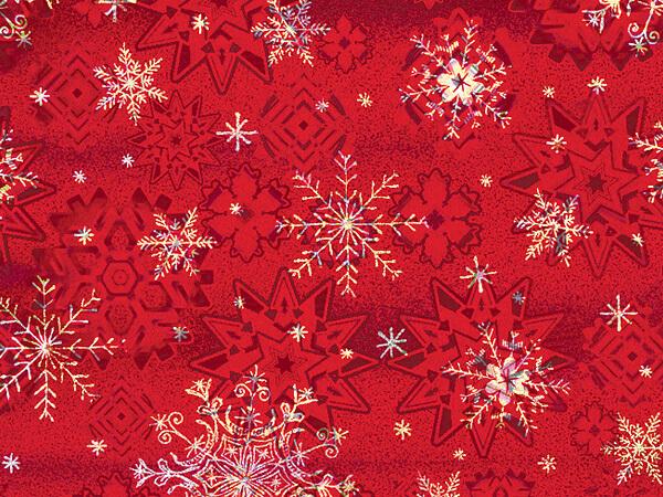"Winter Snowflakes Metallized Gift Wrap, 24"" x 833', Full Ream Roll"
