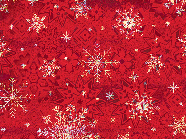 "Winter Snowflake  30"" x 417' Half Ream Gift Wrap (Metallized)"