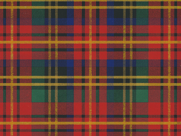 "Traditional Red Plaid  24"" x 417' Half Ream Roll Gift Wrap"