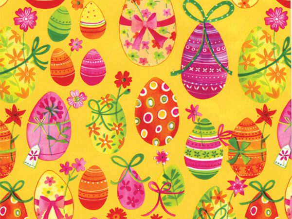 "Easter Eggs  18"" x 833' Full Ream Roll Gift Wrap"