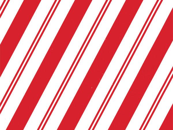 "Cane Candy Stripe 24"" x 417' Half Ream Roll Gift Wrap"