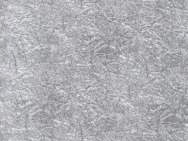 """Silver Embossed Tinsel 18"""" x 417' Half Ream Gift Wrap (Foil)"""
