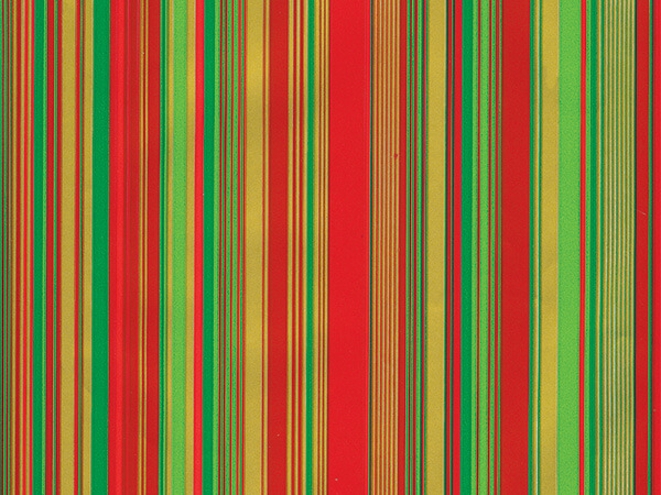"""Red and Green Sidney Wrapping Paper 24"""" x 417', Half Ream Roll"""