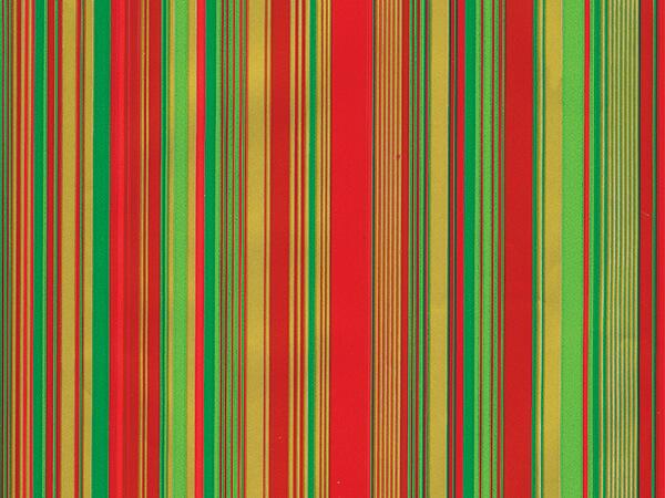 "Red/Green Sidney  26"" x 417' Half Ream Roll Gift Wrap"