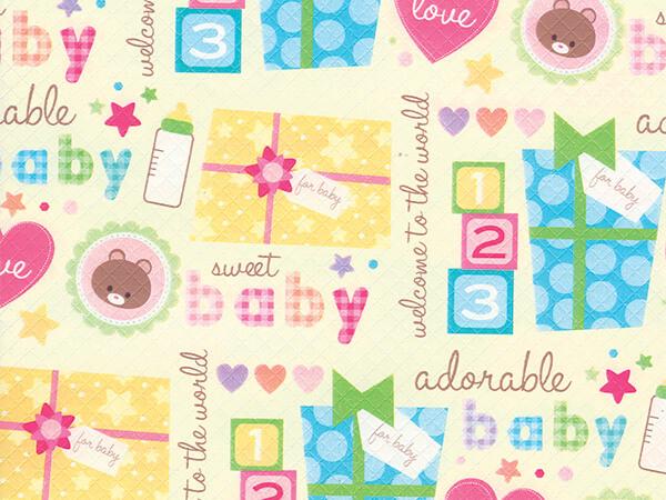 "Sweet Baby  30"" x 417' Half Ream Roll Gift Wrap"