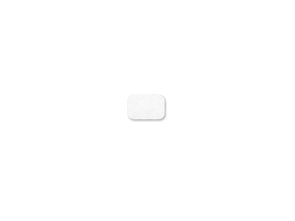Instant Stik Removable Labels White Rectangle 3/4 x 1/2""