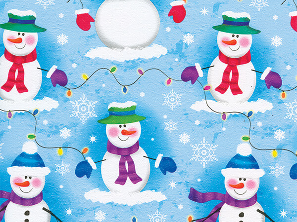 "Frosty Nights  18"" x 417' Half Ream Roll Gift Wrap"