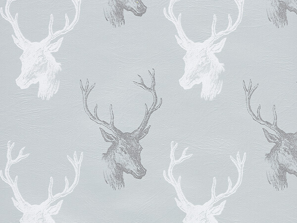 "Draft Deer  24"" x 417' Half Ream Gift Wrap (Metallized)"