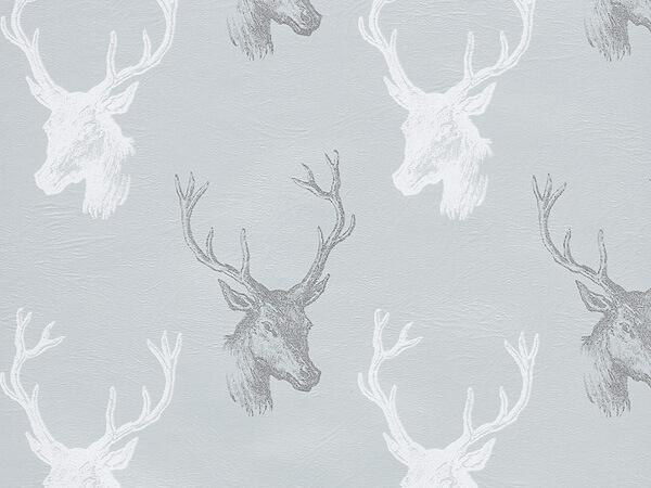 "Draft Deer Metallized Gift Wrap 24"" x 417', Half Ream Roll"