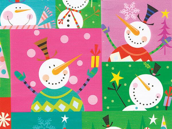 "Colorblock SnowMan  26"" x 417' Half Ream Roll Gift Wrap"