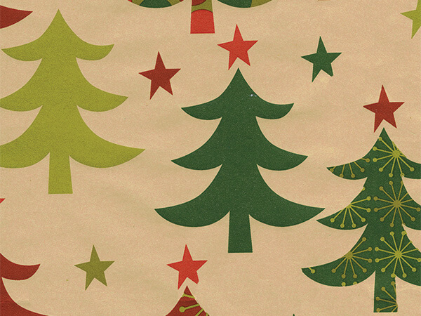 "Geometrees  24"" x 833' Full Ream Roll Gift Wrap"