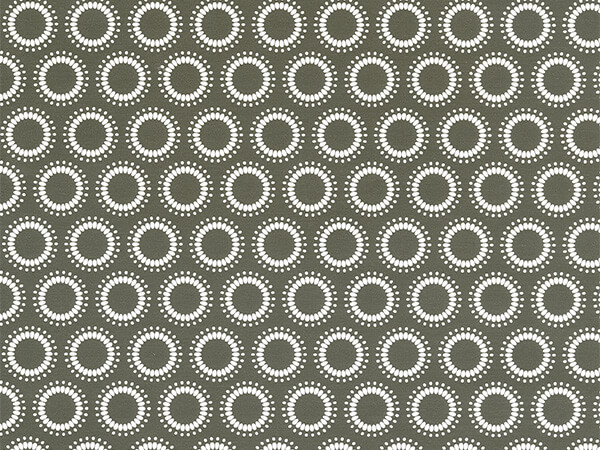 "Dotted White Circles on Gray Wrapping Paper, 24"" x 833'"