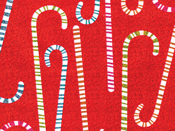 """Colorful Confection Metallized Gift Wrap, 26"""" x 417', Half Ream Roll"""