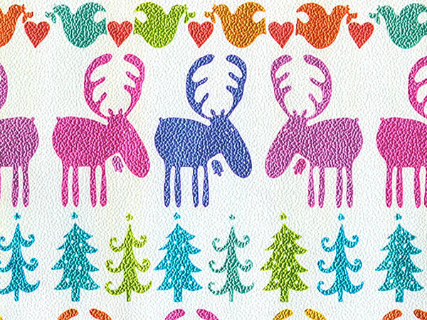 "Holiday Moose  30"" x 417' Half Ream Gift Wrap (Metallized)"