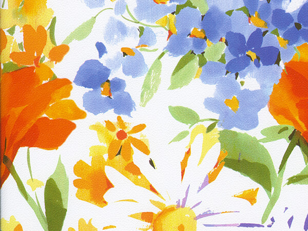 "Watercolor Floral  24"" x 833' Full Ream Roll Gift Wrap"