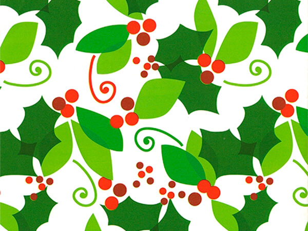 """When Berry Met Holly Gift Wrap 24"""" x 833', Full Ream Roll"""