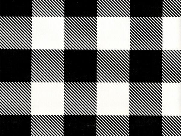 "Black Buffalo Plaid 26"" x 417' Half Ream Roll Gift Wrap"