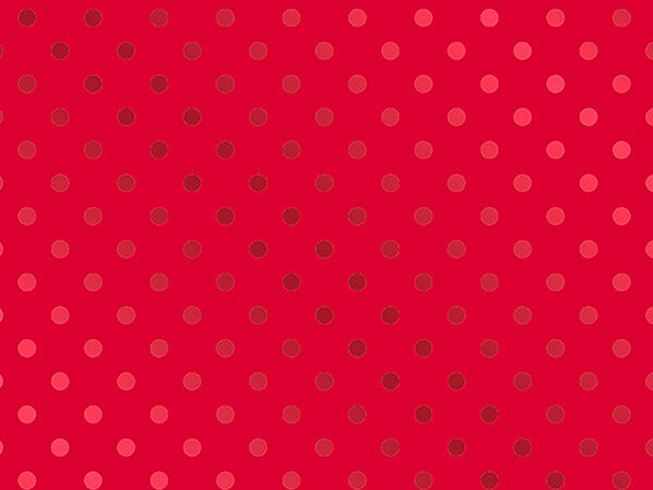 """Red on Red Polka Dot Metallized Gift Wrap, 26"""" x 417', Half Ream"""