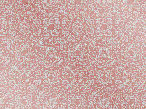 Rose Gold Embossed Medallion 26x417 Half Ream Gift Wrap (Foil)