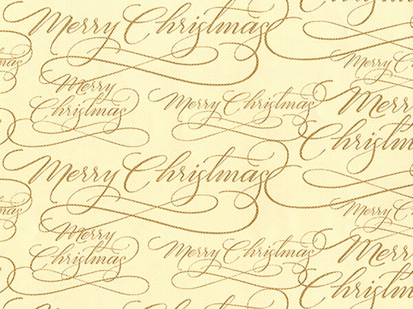 """Sophisticated Script  26"""" x 417' Half Ream Roll Gift Wrap"""