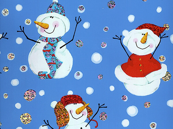 "Snow Big Deal  30"" x 417' Half Ream Gift Wrap (Metallized)"