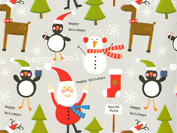 "Holiday Buddies  30"" x 417' Half Ream Roll Gift Wrap"