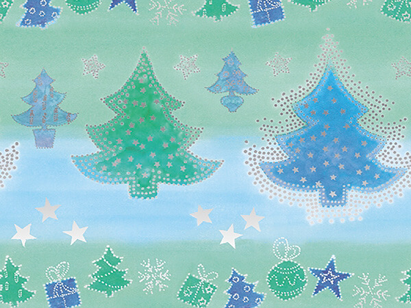 "Whimsical Wonderland 18"" x 417' Half Ream Gift Wrap (Metallized)"