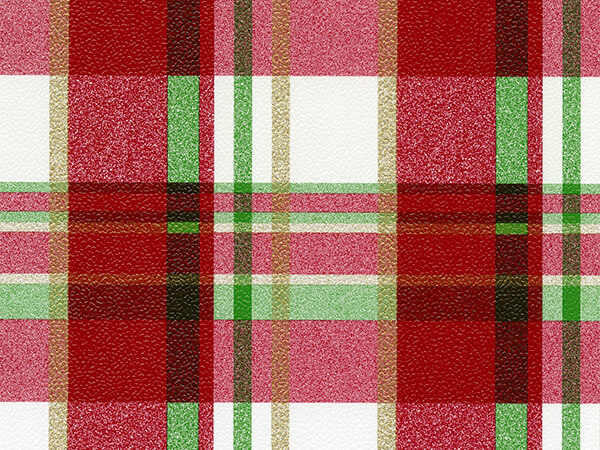 "Red/Green Plaid 30"" x 417' Half Ream Roll Gift Wrap"