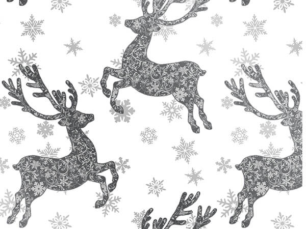 "Mega Bucks  18"" x 417' Half Ream Gift Wrap (Metallized)"