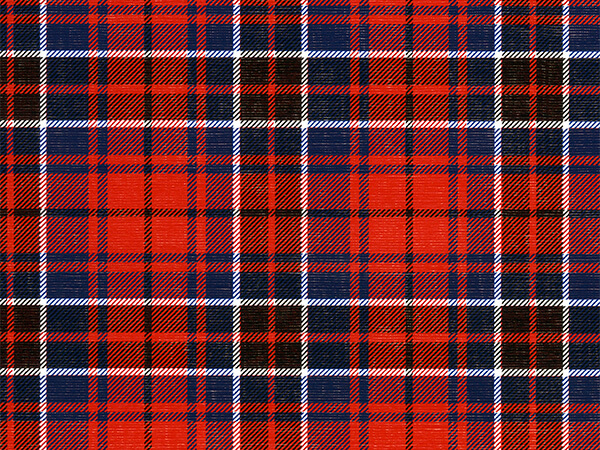 "Red & Blue Club Plaid  30"" x 417' Half Ream Roll Gift Wrap"
