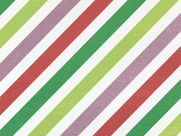 "Dynamic Diagonal Stripe 24"" x 417' Half Ream Gift Wrap (Metallized)"