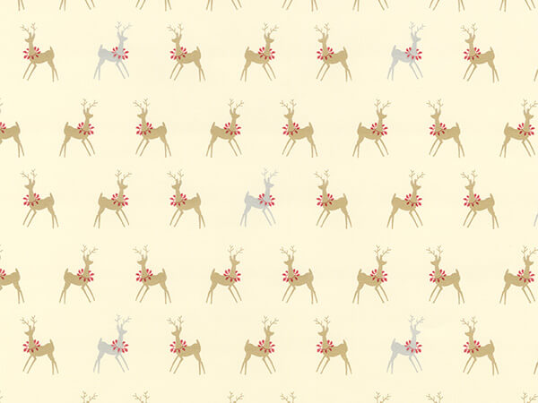 "Oh Deer  18"" x 833' Full Ream Roll Gift Wrap"