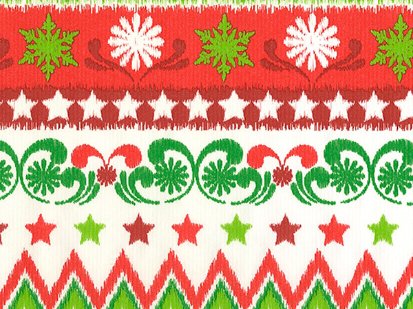 "Holiday Stitchery  18"" x 417' Half Ream Gift Wrap (Kraft)"