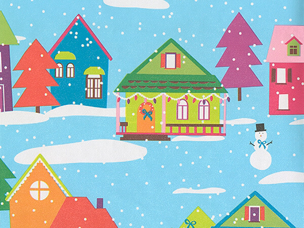 "Holiday Homes  30"" x 833' Full Ream Roll Gift Wrap"