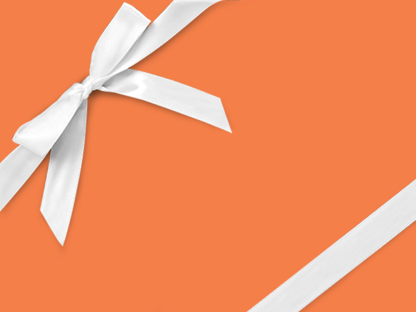 "Orange Crush Wrapping Paper 24"" x 417', Half Ream Roll"