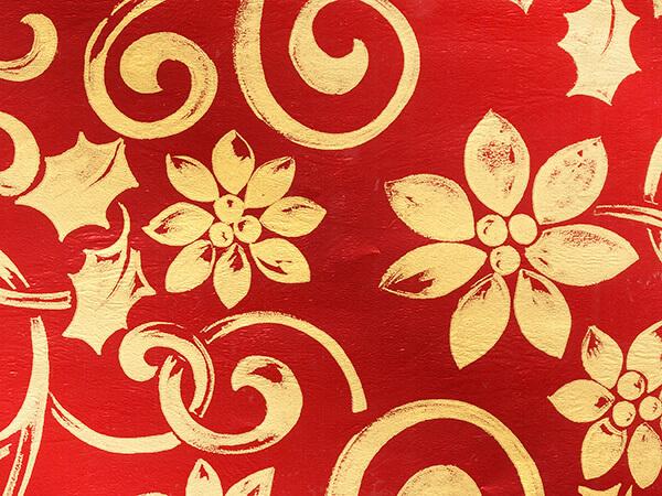 "Christmas Tapestry Vine Metallized Gift Wrap, 26"" x 417', Half Ream"