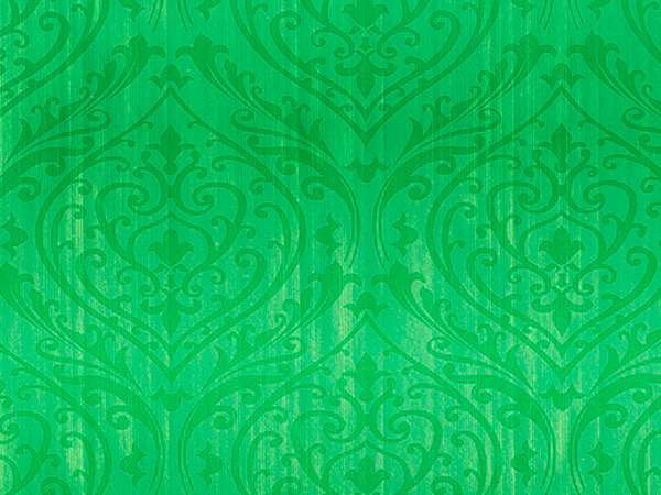 "Ornament Damask  24"" x 417' Half Ream Gift Wrap (Metallized)"