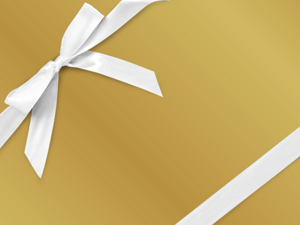 "Yellow Jacket  30"" x 417' Half Ream Gift Wrap (Metallized)"