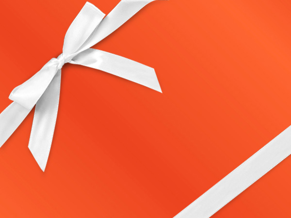 "Burnt Orange  30"" x 833' Full Ream Gift Wrap (Metallized)"