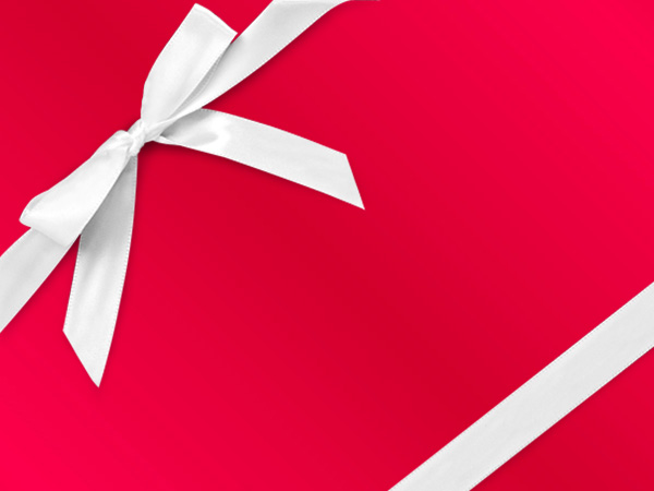 """Red Metal  18"""" x 417' Half Ream Gift Wrap (Metallized)"""