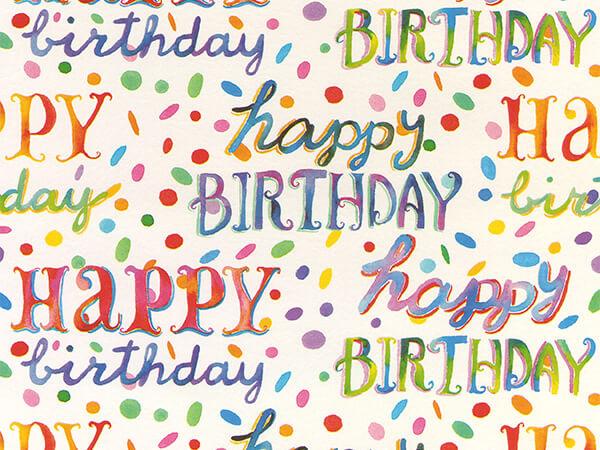 """Birthday Bash  30"""" x 417' Half Ream Roll Gift Wrap"""