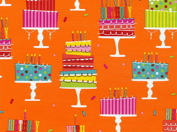 "Birthday Party Wish  18"" x 417' Half Ream Roll Gift Wrap"