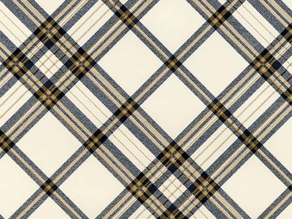 "Pristine Plaid  24"" x 833' Full Ream Roll Gift Wrap"
