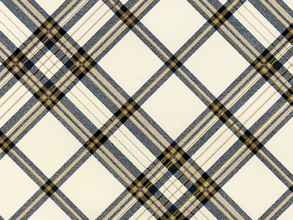 "Pristine Plaid  26"" x 833' Full Ream Roll Gift Wrap"