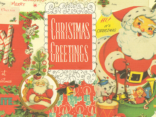 "Old Fashion Christmas  18"" x 417' Half Ream Roll Gift Wrap"