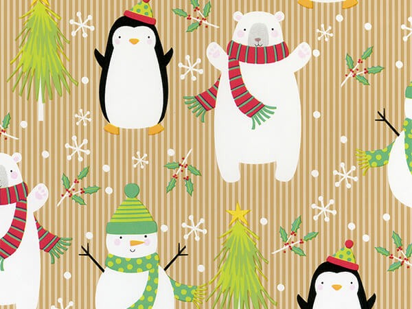 "Holiday Hold-Up  18"" x 417' Half Ream Roll Gift Wrap"